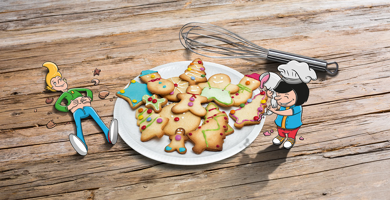 In der Weihnachtsbäckerei.